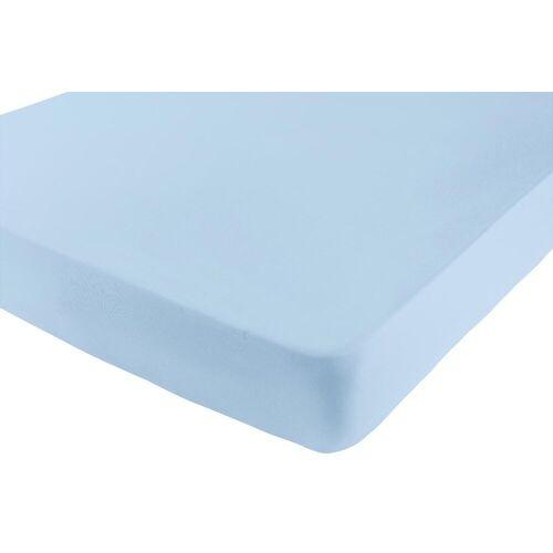 Spannbettlaken B/L: 180-200 cm x 200-220 blau Bettlaken Betttücher Bettwäsche, und