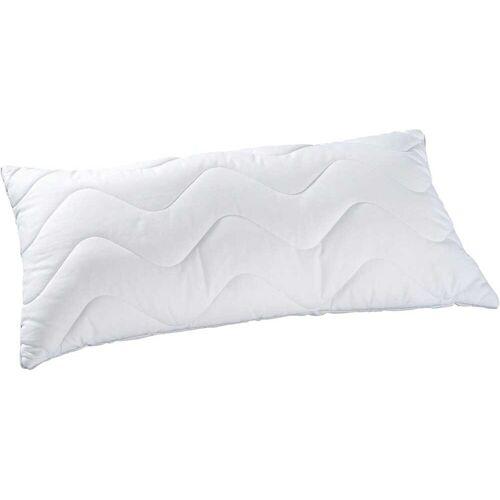 KBT Bettwaren Synthetikkopfkissen Body Soft Kopfkissen, (1 St.) B/L: 40 cm x 80 weiß Allergiker Kopfkissen Bettdecken, Unterbetten