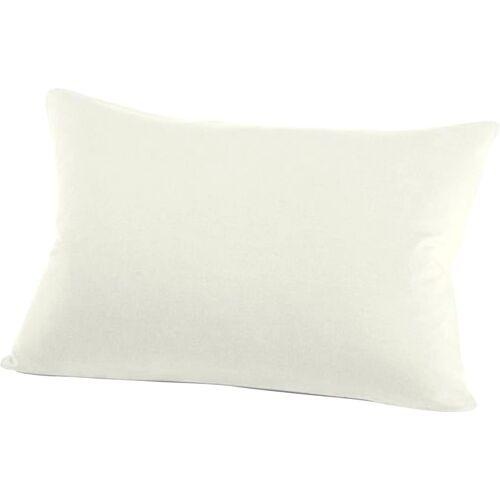 Schlafgut Kissenbezug Jersey, (2 St.), mit Aloe Vera Ausrüstung B/L: 40 cm x 60 cm, 2 St., Jersey weiß Kissenbezüge gemustert Kissen