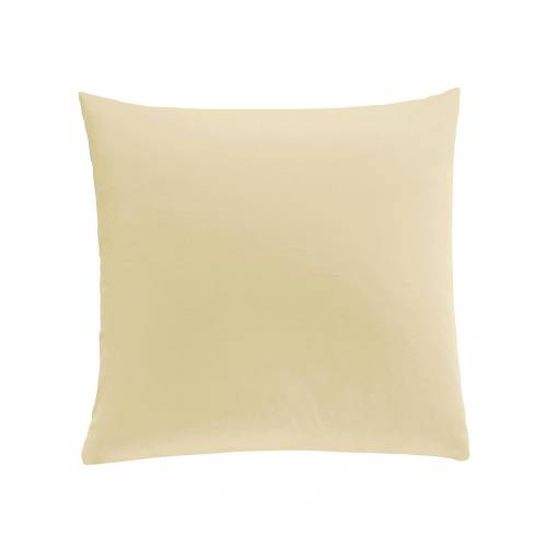 wäschepur Kissenbezüge, (2 St.) B/L: 80 cm x cm, 2 St., Mako-Satin gelb Kissenbezüge uni Kissen