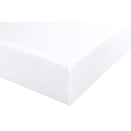 Spannbettlaken B/L: 140-160 cm x 200-220 weiß Bettlaken Betttücher Bettwäsche, und