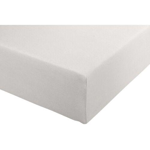 Spannbettlaken B/L: 180-200 cm x 200-220 grau Bettlaken Betttücher Bettwäsche, und