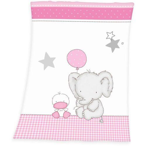 Baby Best Babydecke Fynn Elefant, mit Elefant & Ente B/L: 75 cm x 100 weiß Kinder Kinderdecken Decken
