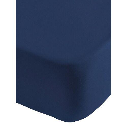 Spannbettlaken B/L: 90-100 cm x 190-220 blau Bettlaken Betttücher Bettwäsche, und