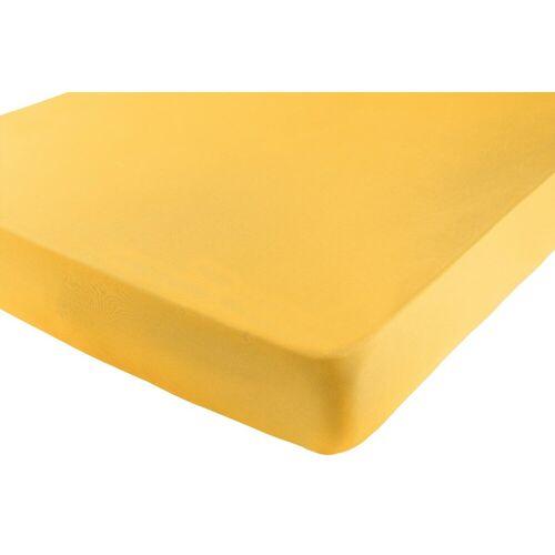 Spannbettlaken B/L: 90-100 cm x 190-220 gelb Bettlaken Betttücher Bettwäsche, und