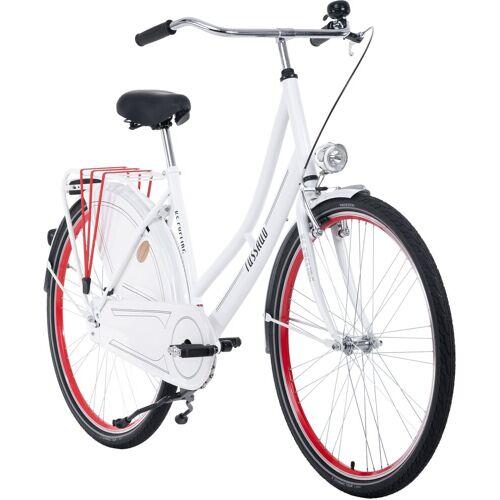 KS Cycling Hollandrad Tussaud, 1 Gang 49 cm, 28 Zoll (71,12 cm) weiß Hollandräder Fahrräder Zubehör