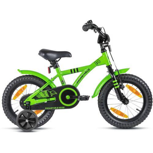 PROMETHEUS BICYCLES Kinderfahrrad Hawk, 1 Gang 23 cm, 14 Zoll (35,56 cm) grün Kinder Kinderfahrräder Fahrräder Zubehör