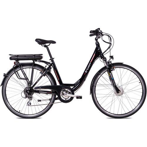 Chrisson E-Bike E-LADY, 8 Gang, Shimano, RD-M360-SGS, Frontmotor 250 W 50 cm, 28 Zoll (71,12 cm) schwarz E-Bikes Fahrräder Zubehör