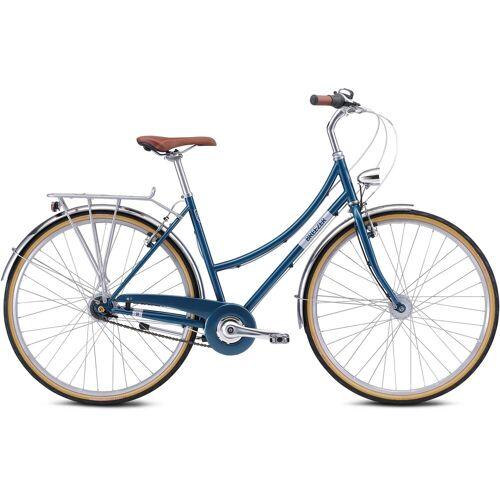 BREEZER Bikes Trekkingrad DOWNTOWN 7+, 7 Gang 46 cm, 28 Zoll (71,12 cm) blau Trekkingräder Fahrräder Zubehör