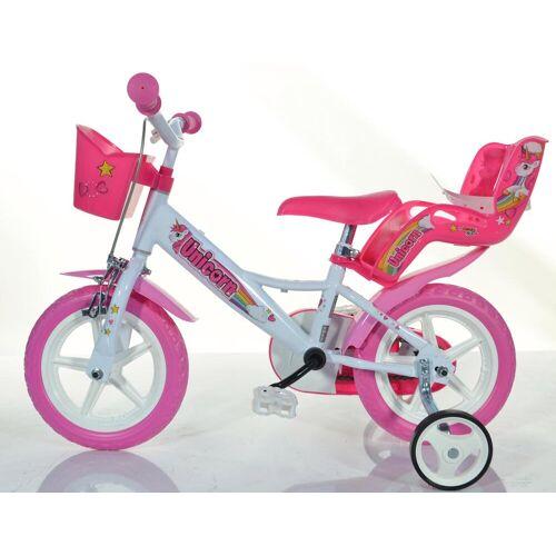 Dino Kinderfahrrad EINHORN, 1 Gang 22 cm, 12 Zoll (30,48 cm) weiß Kinder Kinderfahrräder Fahrräder Zubehör