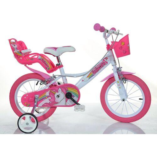 Dino Kinderfahrrad EINHORN, 1 Gang 28 cm, 16 Zoll (40,64 cm) weiß Kinder Kinderfahrräder Fahrräder Zubehör
