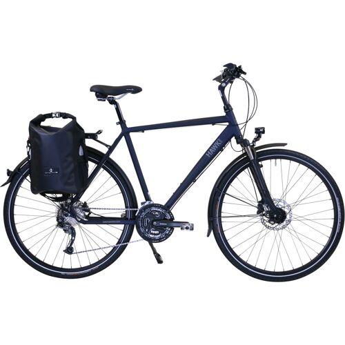 HAWK Bikes Trekkingrad Trekking Gent Deluxe Plus Ocean Blue, 27 Gang, Shimano, Alivio Schaltwerk 57 cm, 28 Zoll (71,12 cm) blau Trekkingräder Fahrräder Zubehör
