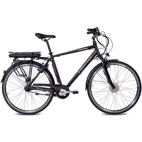 Chrisson E-Bike E-GENT, 8 Gang, Shimano, SG-C3000-7C, Frontmotor 250 W 53 cm, 28 Zoll (71,12 cm) schwarz E-Bikes Fahrräder Zubehör