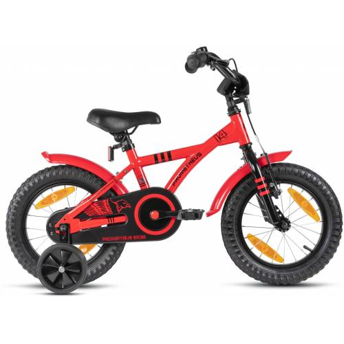 PROMETHEUS BICYCLES Kinderfahrrad Hawk, 1 Gang 23 cm, 14 Zoll (35,56 cm) rot Kinder Kinderfahrräder Fahrräder Zubehör