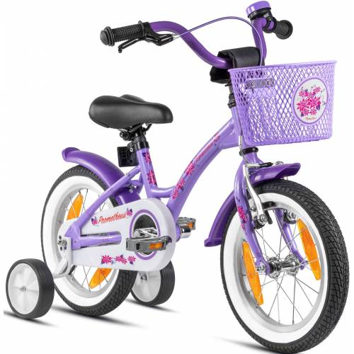 PROMETHEUS BICYCLES Kinderfahrrad Hawk, 1 Gang 22 cm, 14 Zoll (35,56 cm) lila Kinder Kinderfahrräder Fahrräder Zubehör