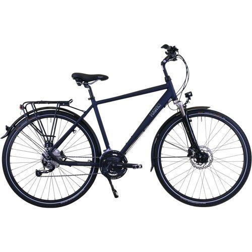 HAWK Bikes Trekkingrad Trekking Gent Deluxe Ocean Blue, 27 Gang, Shimano, Alivio Schaltwerk 57 cm, 28 Zoll (71,12 cm) blau Trekkingräder Fahrräder Zubehör