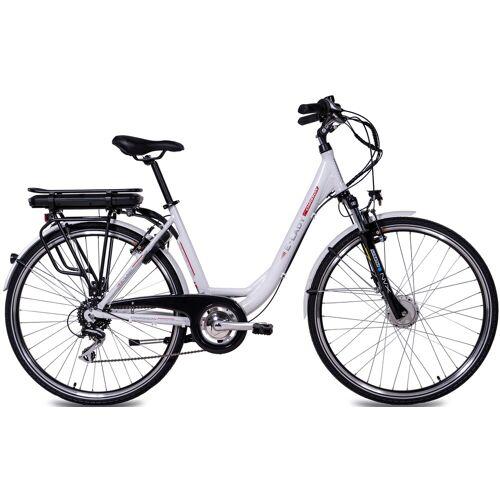 Chrisson E-Bike E-LADY, 8 Gang, Shimano, RD-M360-SGS, Frontmotor 250 W 50 cm, 28 Zoll (71,12 cm) weiß E-Bikes Fahrräder Zubehör