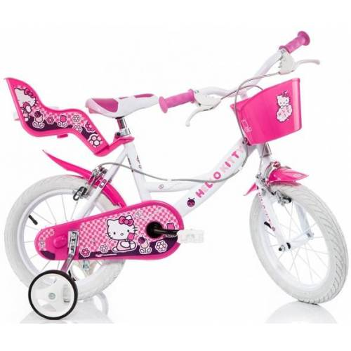 Hello Kitty Kinderfahrrad Kitty, mit Lenkerkorb + Puppensitz 30 cm, 16 Zoll (40,64 cm) rosa Kinder Kinderfahrräder Fahrräder Zubehör