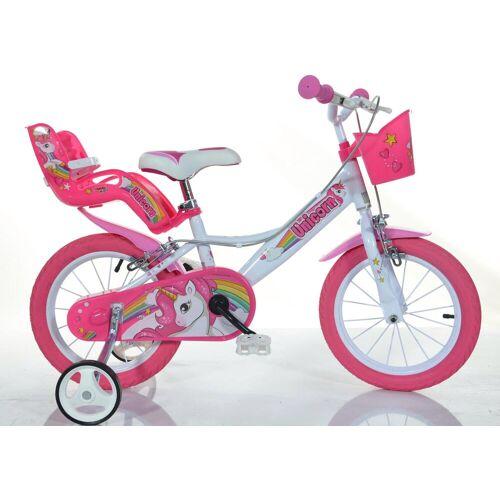 Dino Kinderfahrrad EINHORN, 1 Gang 25 cm, 14 Zoll (35,56 cm) weiß Kinder Kinderfahrräder Fahrräder Zubehör