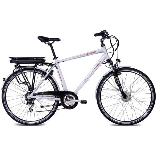 Chrisson E-Bike E-GENT, 8 Gang, Shimano, RD-M360-SGS, Frontmotor 250 W 53 cm, 28 Zoll (71,12 cm) weiß E-Bikes Fahrräder Zubehör
