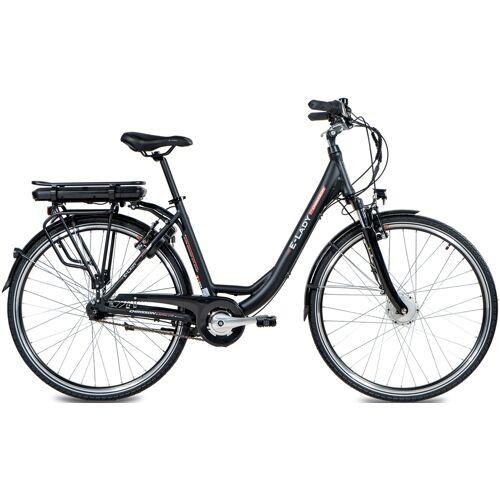 Chrisson E-Bike E-LADY, 8 Gang, Shimano, SG-C3000-7C, Frontmotor 250 W 50 cm, 28 Zoll (71,12 cm) schwarz E-Bikes Fahrräder Zubehör