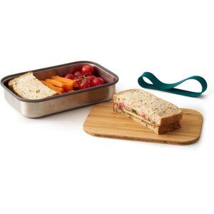 black+blum Lunchbox, (3 tlg.), inkl. Bambusdeckel B/H/L: 14,7 cm x 5 22 blau Lunchbox Aufbewahrung Küchenhelfer Haushaltswaren