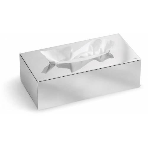 BLOMUS Papiertuchbox Kleenex-Box -NEXIO- poliert B/H/T: 12 cm x 7,5 24 silberfarben Bad Sanitär