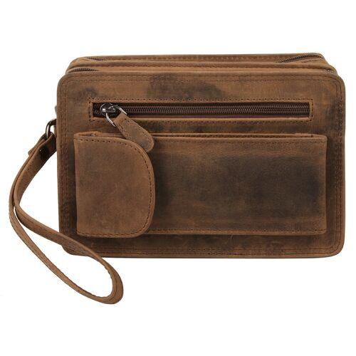 Bagan Handgelenktasche B/H/T: 21 cm x 13 8 onesize braun Damen Handgelenkstaschen Taschen