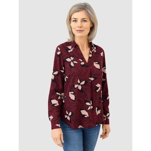 Dress In Schlupfbluse, mit schönem Blumendruck 40 rot Damen Schlupfbluse Schlupfblusen Blusen Tuniken