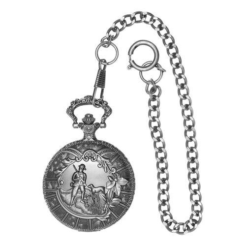 Country Line Taschenuhr, Herren mit Gliederkette Einheitsgröße silberfarben Damen Taschenuhr Taschenuhren Uhren