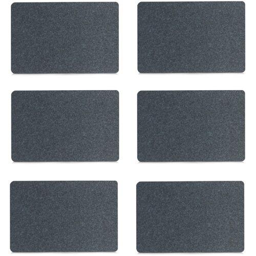 Zeller Present Platzset, (Set, 6 St.) Filz schwarz Platzset Platzsets Tischwäsche