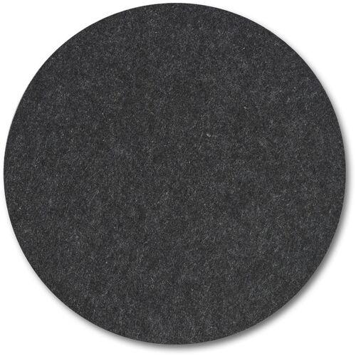Zeller Present Platzset, (6 St.), aus Filz Ø 38 cm rund schwarz Platzset Platzsets Tischwäsche