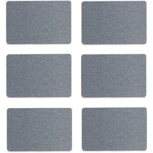 Zeller Present Platzset, (Set, 6 St.) Filz grau Platzset Platzsets Tischwäsche