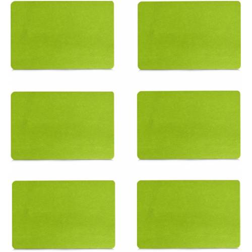 Zeller Present Platzset, (Set, 6 St.) Filz grün Platzset Platzsets Tischwäsche