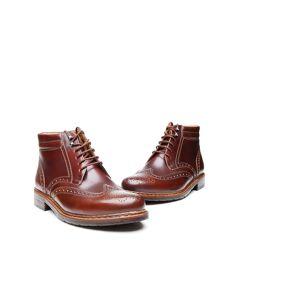 Heinrich Dinkelacker Stiefelette Janosh K Full-Brogue AC, Wahre Schuhmacherkunst aus Budapest 41 (UK 7,5) braun Herren Boots Stiefeletten Herbstschuhe