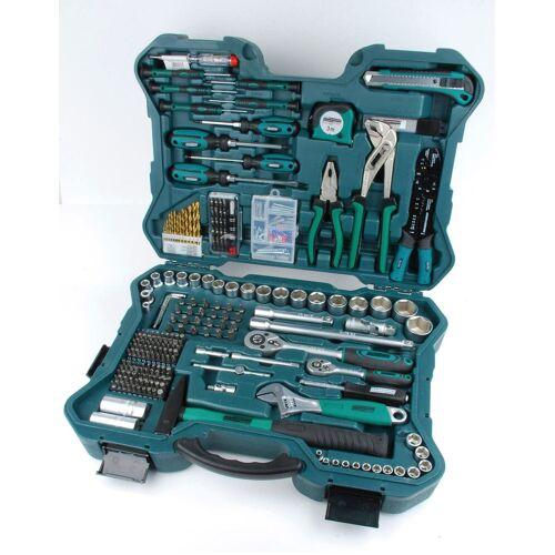 Brüder Mannesmann Werkzeuge Werkzeugset, (Set, 303 St.) 38 x 51 12 cm grün Werkzeugset Werkzeugkoffer Werkzeug Maschinen
