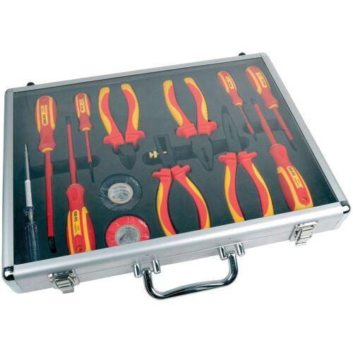 Brüder Mannesmann Werkzeuge Werkzeugset, (13 St.), befüllter Werkzeugkoffer Einheitsgröße rot Werkzeugset Werkzeug Maschinen