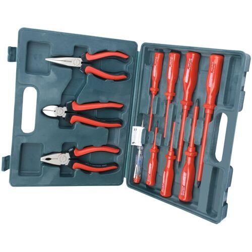 Brüder Mannesmann Werkzeuge Werkzeugset, (11 St.) Einheitsgröße rot Werkzeugset Werkzeugkoffer Werkzeug Maschinen