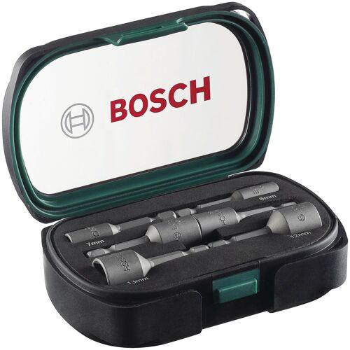 BOSCH Werkzeugset, 6-tlg. Steckschlüssel-Set Einheitsgröße grau Werkzeugset Werkzeugkoffer Werkzeug Maschinen
