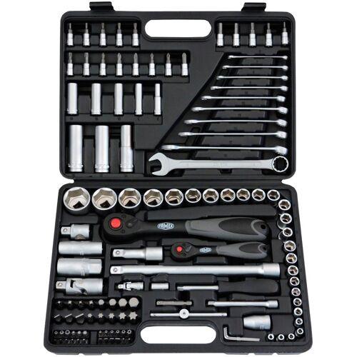 FAMEX Werkzeugset 568-FX-46, (Set, 120 St.), im Werkzeugkoffer 28 x 38 8 cm schwarz Werkzeug Maschinen