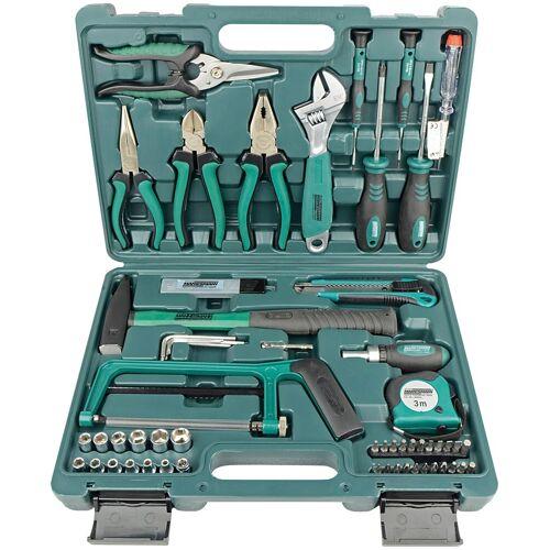 Brüder Mannesmann Werkzeuge Werkzeugset 74-tlg., (Set, 74 St.) 38 x 28 8,5 cm grün Werkzeugkoffer Werkzeug Maschinen