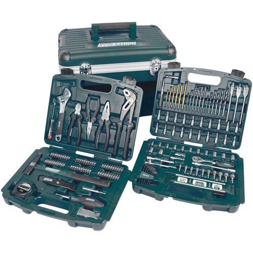 Brüder Mannesmann Werkzeuge Werkzeugset 163-tlg., (Set, 163 St.) 34 x 47 31 cm grün Werkzeugkoffer Werkzeug Maschinen