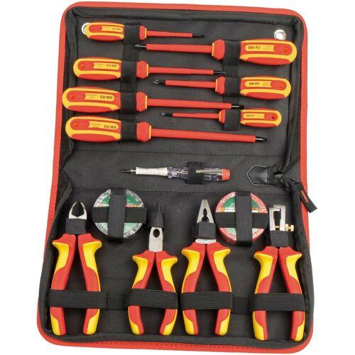 Brüder Mannesmann Werkzeuge Werkzeugset, (Set, 14 St.) 53 x 35 5 cm rot Werkzeugset Werkzeugkoffer Werkzeug Maschinen