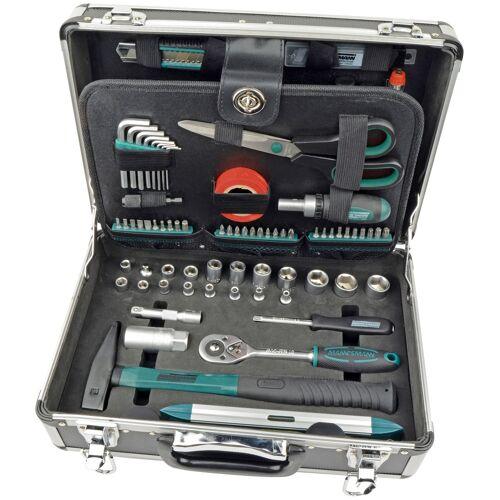 Brüder Mannesmann Werkzeuge Werkzeugset 90-tlg., (Set, 90 St.) 37 x 26 14 cm grün Werkzeugkoffer Werkzeug Maschinen