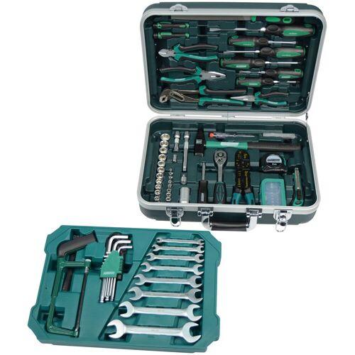 Brüder Mannesmann Werkzeuge Werkzeugset 108-tlg., (Set, 108 St.) 46,5 x 35,5 16,5 cm grün Werkzeugkoffer Werkzeug Maschinen