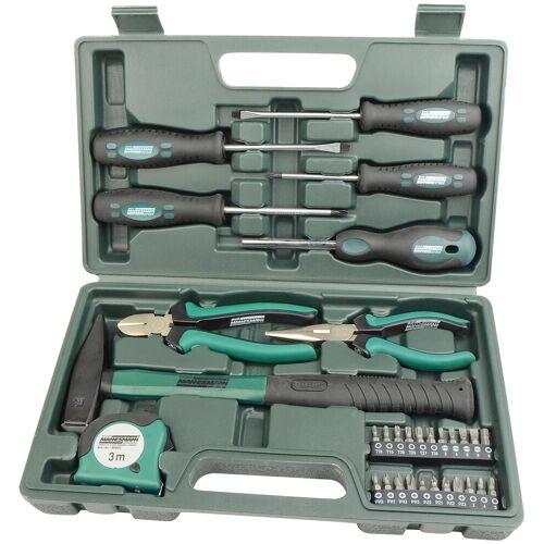 Brüder Mannesmann Werkzeuge Werkzeugset 31-tlg., (Set, 31 St.) 33 x 19 6,5 cm grün Werkzeugkoffer Werkzeug Maschinen