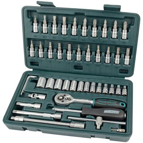 Brüder Mannesmann Werkzeuge Werkzeugset, (Set, 46 St.) 25,5 x 4,9 14,3 cm grün Werkzeugset Werkzeugkoffer Werkzeug Maschinen
