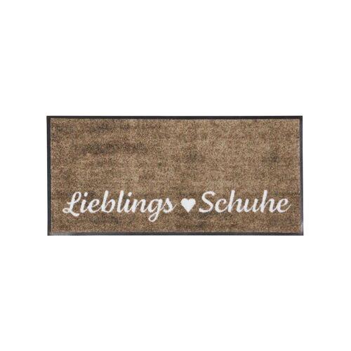 Teppich, rechteckig, 7 mm Höhe B/L: 35 cm x 120 cm, 1 St. braun Teppich Kurzflor-Teppiche Weitere Teppiche