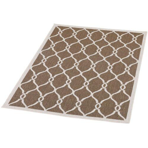 Schneider Outdoorteppich Andro, rechteckig, 5 mm Höhe B: 120 cm, 1 St. braun Outdoor-Teppiche Teppiche