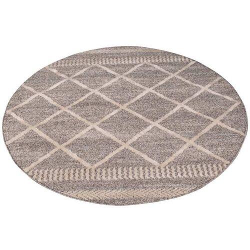 Carpet City Teppich Art 2645, rund, 7 mm Höhe Ø 120 cm, 1 St. braun Esszimmerteppiche Teppiche nach Räumen